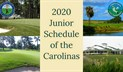 FIRST EDITION OF THE 2020 JUNIOR SCHEDULE OF THE CAROLINAS POSTED